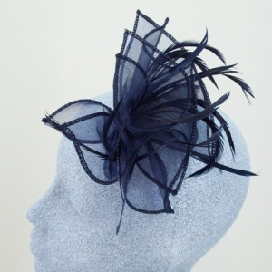 Navy Blue Fascinator Julia - FAS027