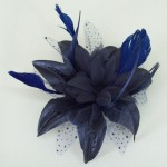Navy Blue Fascinator Nikki - FAS073
