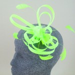 Neon Green Fascinator Bethan - FAS102