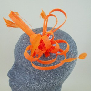 Neon Orange Fascinator April - FAS103