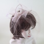 Nude Birdcage Fascinator Poppy - FAS218