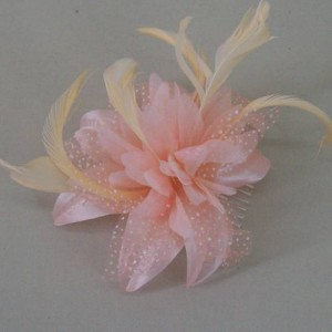Peach Fascinator Jodie FAS237