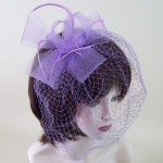 Purple Birdcage Fascinator Joanna - FAS220