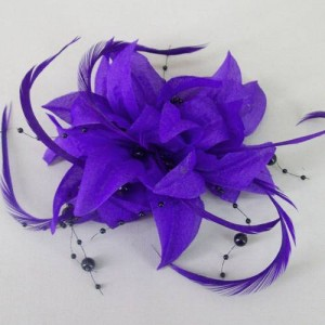 Purple Fascinator Becca FAS231