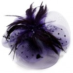 Purple Fascinator Harriet - FAS206