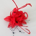 Red Fascinator Becca FAS228