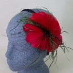 Red Fascinator Beckie - FAS217