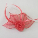 Red Fascinator Juno - FAS227