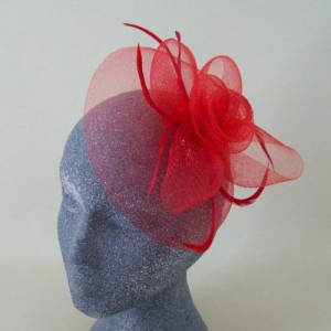 Red Fascinator Hat Trudie - FAS245