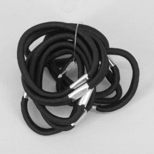 Black Elastics 10 pack - ELA004