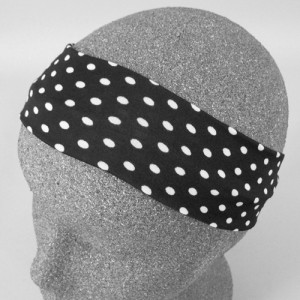 Black Polka Dot Headband Bandeau - BAN004