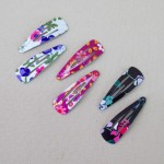 Floral Hair Clips 6 Pack - CLI001