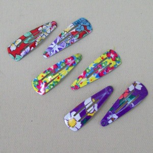 Floral Hair Clips 6 Pack - CLI002