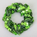Green Sequin Hair Scrunchies - SCR004
