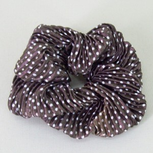 Brown Crinkle Spot Scrunchies - SCR009