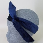 Navy Blue Velvet Headwrap - HEA005