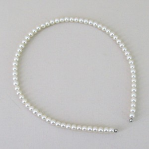 Pearl Hairband Single Row Cream - BAN018
