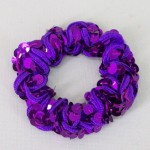 Purple Sequin Hair Scrunchies - SCR003