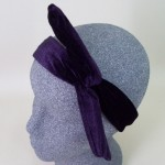 Purple Velvet Headwrap - HEA007