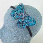 Sequin Butterfly Headband Aqua - BAN023