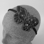 Sequin Butterfly Headband Black - BAN027