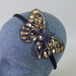Sequin Butterfly Headband Gold - BAN026