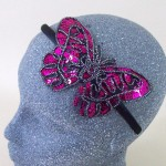 Sequin Butterfly Headband Hot Pink - BAN028