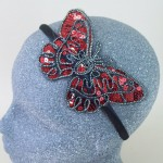 Sequin Butterfly Headband Red - BAN024