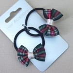 Tartan Hair Elastics 2 pack Green - ELA006
