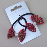 Tartan Hair Elastics 2 pack Red - ELA005