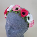 Anemone Flower Crown Headband English Rose - HFL246