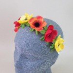 Anemone Flower Crown Headband Summer Sunset - HFL244