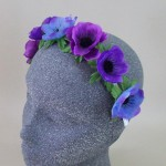 Anemone Flower Crown Headband Twilight - HFL245