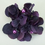 Aubergine Hydrangea and Pearl Hair Clip or Corsage - HFL101