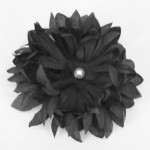 Black Chrysanthemum Hair Flowers Clip - HFL086