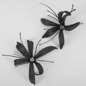 Black Nerine Orchid Hair Pins (2 pack) - HFL088