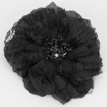 Black Vintage Lace Flower Hair Clip - HFL011