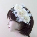 Bridal Floral Vintage Hair Comb Cream - HFL226