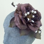 Brown Rose and Pearl Hair Clip - HFL188
