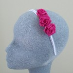 Cerise Rose Headband - HFL114