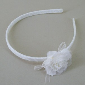 Childs Chiffon Rose Headband Cream - HFL207