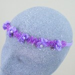 Claire Flower and Pearl Bead Hair Garland Lilac - HFL157
