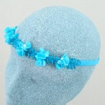 Claire Flower and Pearl Bead Hair Garland Turquoise - HFL156