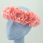 Coral Hawaiian Lei Flower Crown - HFL125