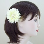 Cream Flower and Pearl Hair Clip or Corsage - HCH003