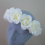 Cream Roses Hair Flower Crown - HFL267