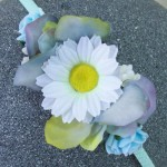 Daisy Princess Headband Denim Blue - HFL270
