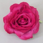 Dark Pink Rose Hair Clip or Corsage - HRO010
