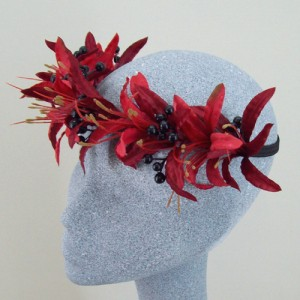 Elena Hair Flower Crown Red - HFL179