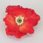 Flame Red Poppy Hair Clip - HFL083